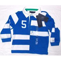 Camisas Tommy Hilfiger Manga Larga/rugby/bebe/niño Original