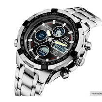 Relógio Masculino Amuda Silver Aço Inoxidável