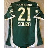 Camisa Palmeiras Autografada Elenco Libertadores 2009 Jogo
