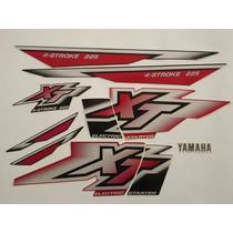 Kit Adesivos Yamaha Xt225 2000 Vermelha - Lb00738