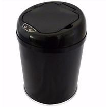 Lixeira Pia-banheiro- Inox Automática Sensor 3 Litros Preta