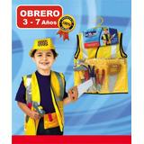 Disfraz Set Obrero Con Accesorios Cotillón Fiesta Cumpleaños