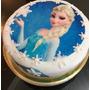 Torta Cumpleaños Infantiles Decorada Casera Frozen