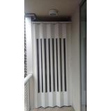 Porta Sanfonada Pvc Branca/bege/cinza Translucida 60 X 210cm