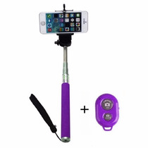 Monopod Selfies 97cm Blueooth Android Iphone Original