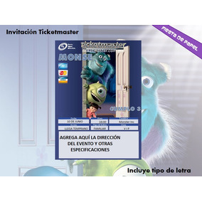 Ki-060 Kit Imprimible Y Editable Monsters, Inc. (boo)