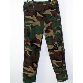 Pantalon Camuflado En Color Militar