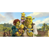 Painel Decorativo Festa Shrek Fiona Burro [2x1m] (mod1)
