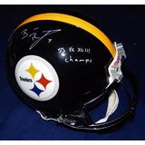 Casco Autografiado Bradshaw Roethlisberger Steelers Pro Line