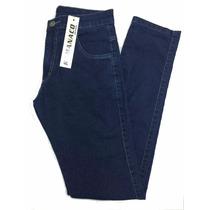 Calça Masculina Jeans Azul Skinny Elastano 38 Ao 48