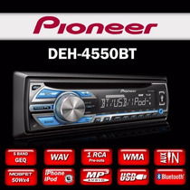 Som Automotivo Pioneer Deh-4550bt Deh-4550 Usb P2 2 Rca Mp3