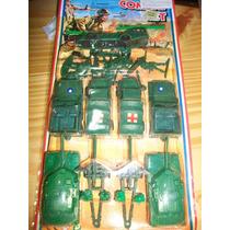 Antiguos Vehículos De Guerra Plastico En Blister