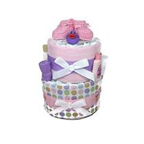 Cestas De Regalo - Sol Rosada Del Pañal Cake Gift Set Con