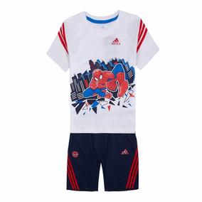 Equipo Conjunto Deportivo adidas En Algodón D Niño Spiderman