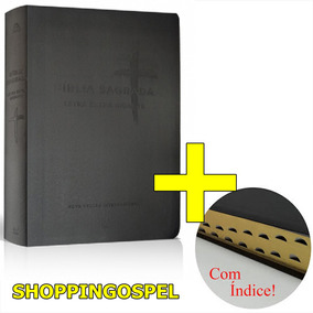 Bíblia Sagrada Nvi Letra Extragigante Grande Luxo Com Índice
