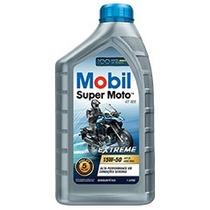 4 Unidades Oleo Mobil Semi Sintetico Super Moto 4t Api 15w50