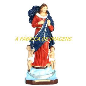 Imagem Nossa Senhora Desatadora Dos Nós Estatua 35cm Gesso