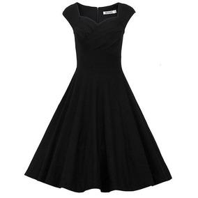 Vestido Negro Retro Muxxn Women