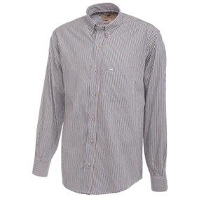 Camisa Hombre Pato Pampa Rayas Doradas