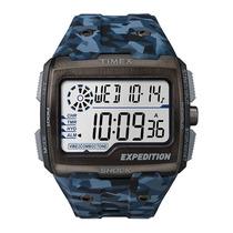 Relógio Timex Expedition Shock Tw4b07100ww/n Camuflado Azul