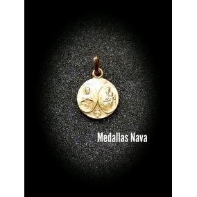 Medalla Escapulario Virgen Del Carmen Con El Sagrado Corazon