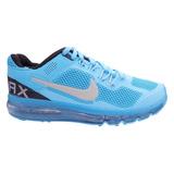 Tênis Nike Air Max 2013 Azul Bebê E Prata Frete Gratis