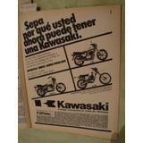 Publicidad Moto Kawasaki Z 750 - Z 440 Ltd - Kl 250 Año 1981