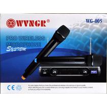 Microfone Duplo Sem Fio Profissional Wg 005 Escola Igreja