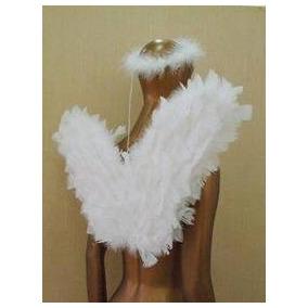 Asas De Anjo Com Aureola Branca Para Coroação
