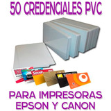 50 Credencial Tarjeta Pvc P/ Imprimir Impresora Epson Canon