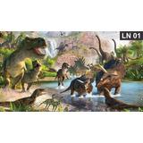 Dinossauros Painel 3,00x1,60m Lona Festa Banner Aniversário