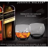 2 Copos Whisky Johnnie Walker Black Label Fumê Original