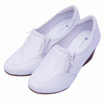 Sapato Feminino Anabela Neftali Enfermagem Couro 4152 Zíper