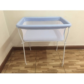 Mini Berço Moisés Azul - Desmontável - Grátis Mosquiteiro
