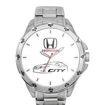 Relógio Honda City - Montrador Branco - Prata