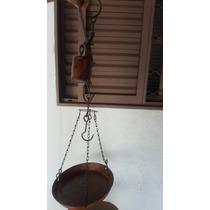 Balança Antiga Varao Tipo Peixeiro Ferro 40 Kg (only Wood)
