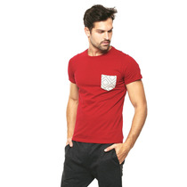 Hang Ten - Playera Roja Manga Corta - Rojo - B135809