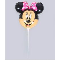 Balão Metalizado Minnie Rosa Centro De Mesa 32x24cm - Kit 10