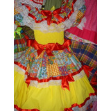 Vestido Junino Luxuoso Enfeitados De Boutique 0 A 6