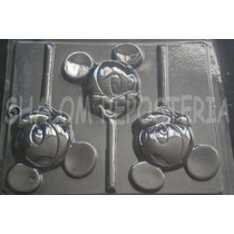 *molde Paletas Chocolate Mickey Mouse Cara Bebe Baby Disney*