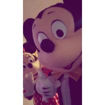 Pareja Disfraz Cabezón Mickey Y Minnie Calidadlivianos Promo