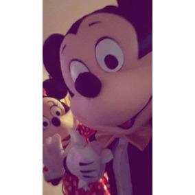 Disfraz Cabezón De Minnie O Mickey, Calidad Y Livianos