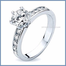 Anillo De Compromiso Diamante Natural .15ct Oro 18k -50% 057