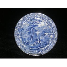 Platos Loza Inglesa Azul Y Blanco Kent Ye Olde Foley 1910