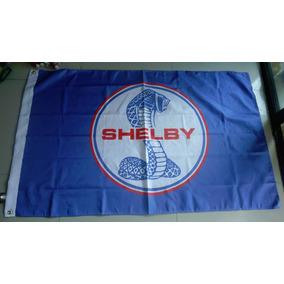 Bandera Ford Mustang Shelby 150x90cm Para Agencia Club 811