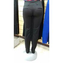 Pantalón Negro De Vestir En Dril Strech