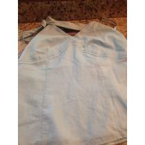 Camisa Mujer Azul Clara Talla 4 Nunca Usada
