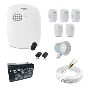 Kit Alarme Completo Central Intelbras Anm3004 + 5 Sensores
