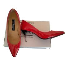 Zapato De Punta Color Rojo Charol