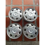 Juego De Rines Chevrolet Spark Con Tapas Originales